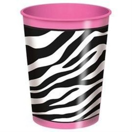 Plastic Cup-Pink Zebra Boutique-1pkg-16oz - Discontinued