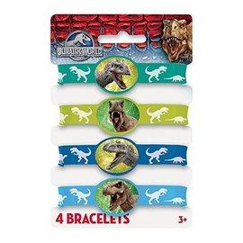 Bracelets- Jurassic World-4pk