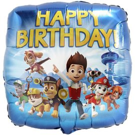 Foil Balloon - Paw Patrol Happy Birthday - 18""