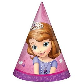 Hats-Cone-Sofia the 1st-8pk-Paper