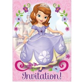 Invitations-Sofia the First-8pk