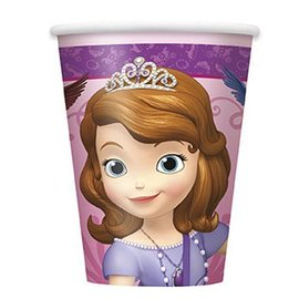 Cups-Sofia The 1st-Paper-9oz-8pk - Discontinued