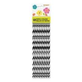 """Paper Straws- Zebra Print- 10pk/8"""""""