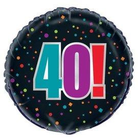Foil Balloon - 40th Birthday Cheer - 18''
