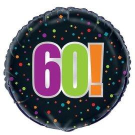 Foil Balloon - Bday Cheer 60! - 18''