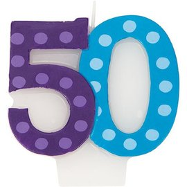 Candle-Bright & Bold 50th Birthday-1pkg