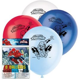 Balloons-Latex-Ultimate Spider-Man-8pk