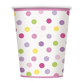 Cups-Baby Girl Stork-Paper-9oz-8pk - Discontinued