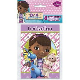 Invitations-Doc Mcstuffins-8pk