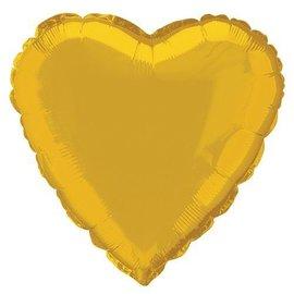 Foil Balloon - Heart - Gold - 18''