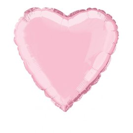 Foil Balloon - Heart - Pastel Pink - 18''