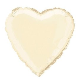 Foil Balloon - Heart - Ivory - 18''