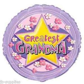 Foil Balloon - Greatest Grandma - 18''