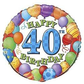 Foil Balloon - 40th Birthday - 18''