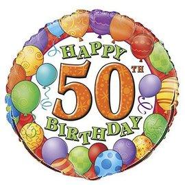 Foil Balloon - Birthday - 50 -18''