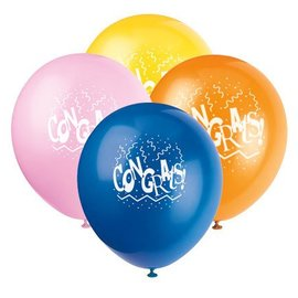 Balloons-Latex-Congrats!-12'' (6pk)