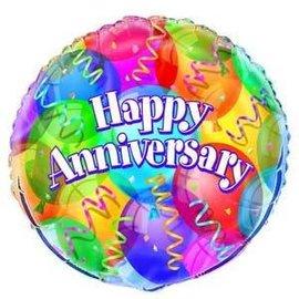 Foil Balloon -  Anniversary - 18''