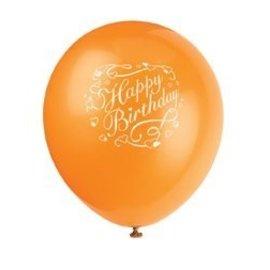 Balloons-Latex-Happy Birthday Hearts-12'' (6pk)