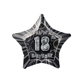 Foil Balloon - Happy 18th Birthday Star - 20""