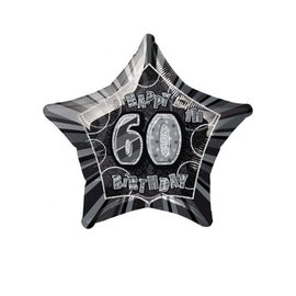 Foil Balloon - Happy 60th Birthday Star - 20""