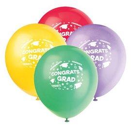 Balloons-Latex-Congrats Grad-Stars-12'' (6pk)