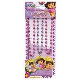 Bead Necklace-Dora the Explorer-3pk