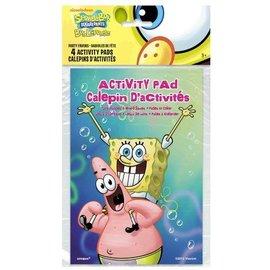 Activity Pad-SpongeBob-4pk
