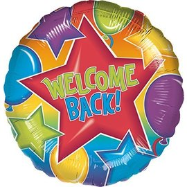 "Foil Balloon - Festive Welcome Back - 18"""
