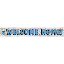 Foil Banner-Welcome Home-12ft