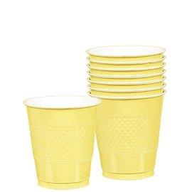 Cups-Light Yellow-20pkg/12oz-Plastic