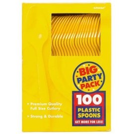 Spoons-Premium-Yellow Sunshine-Box/100pkg-Plastic