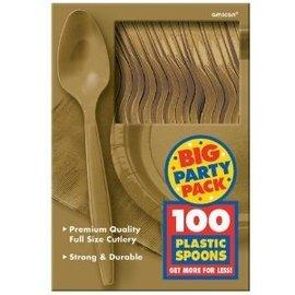 Spoons-Premium-Gold-Box/100pkg-Plastic