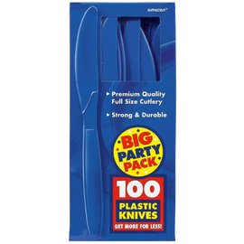 Knives-Premium-Bright Royal Blue-Box/100pkg-Plastic