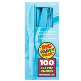 Knives-Premium-Caribbean Blue-Box/100pkg-Plastic