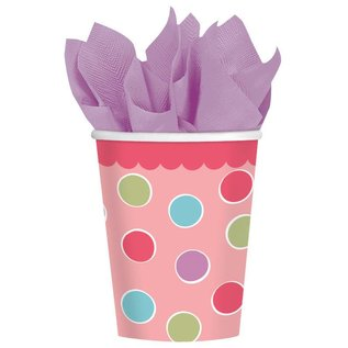 Cups-Cupcake Girl-Paper-9oz-18pk - Discontinued