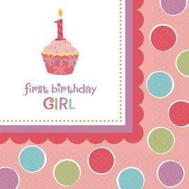 Napkins-Bev-Cupcake Girl-36pk-2ply - Discontinued