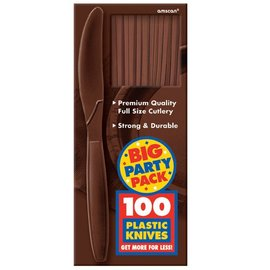 Knives-Premium-Chocolate Brown-Box/100pkg-Plastic
