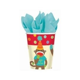Cups-Monkey Party-8pkg-Paper