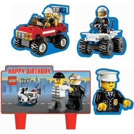 Candle-LEGO City-4pk