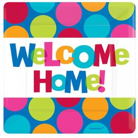 Plates- BEV- Welcome Home -Cabana Dot-16pk-2ply