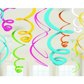 Swirl Decorations 12pc