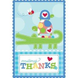 Thank You Cards-Ahoy Baby-8pk
