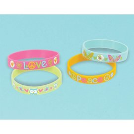 Bracelets-Hippie Chick-Rubber-4pk
