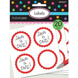 Labels -Red-20pk/2''