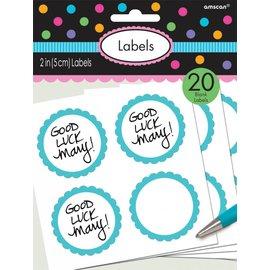 Labels -Blue-20pk/2''