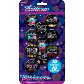 Button Kit- 70's Disco-10pk/11 1/16''