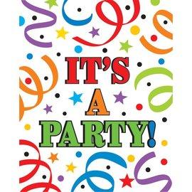 Invitations-ITs A Party-8pk
