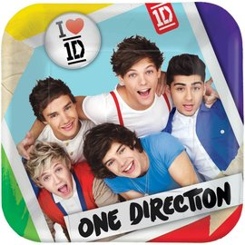 Plates-Bev-One Direction-8pk-Paper