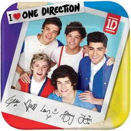 Plates-LN-One Direction-8pk-Paper