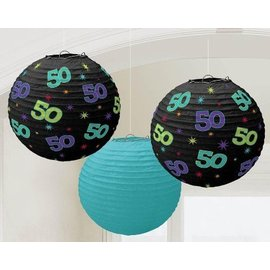 Paper Lanterns -50th Bday-3pk/9.5''